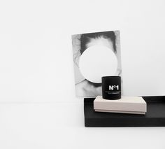 The Minimalist Home x Playtype number 1 candle