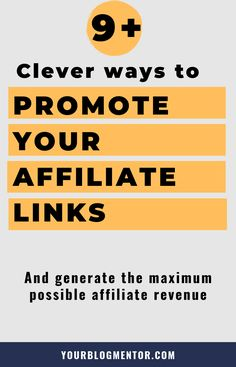 Promoting your affiliate links in an effecient way is necessary if you want to be successful with affiliate marketing & make money online. Learn clever ways to promote your affiliate links. learn how to make money online from affiliate marketing