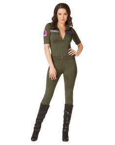 Top Gun Jumpsuit Adult Womens Costume – Spirit Halloween