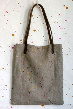 Confetti Mini Tote Bag -  Pink, Bronze and Gold