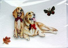 #D so cool!! Golden Retriever Dog HandCrafted by SunnyCrystals, £1.45