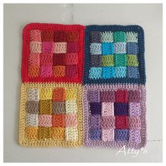 """Crochet Tutorial: """"weaving pattern square"""" (Master Class) - maomao - my heart action. Interesting concept - crochet strips and weave them together. Crochet Motifs, Crochet Blocks, Crochet Squares, Free Crochet, Knit Crochet, Crochet Afghans, Plaid Crochet, Crochet Quilt, Unique Crochet"""