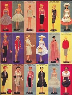 .I had dress, top row fourth from left...pretty pink dress, bottom row second from right