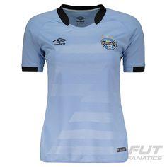 Camisa Umbro Grêmio II 2017 Feminina Somente na FutFanatics você compra  agora Camisa Umbro Grêmio II 30240b6970558