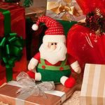 Boneco Papai Noel Com Macacão Sentado - Orb Christmas