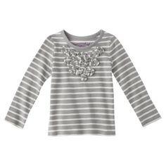 Genuine Kids from OshKosh ™ Infant Toddler Girls' Long-sleeve Tee - Armor Gray