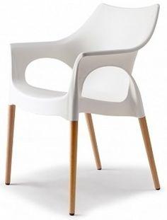 chaise blanche et pieds bois naturel natura ola vendu a l unite deco - Chaise Blanche Design