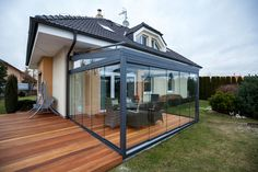 Pergola Attached To House Roof Timber Roof, Outdoor Decor, Patio Design, Sliding Panels, Terrace Design, House, Outdoor Living Rooms, Shade Sail, House Extensions