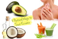 Eczema.  1) Fight the outbreaks with food Avoid processed foods, alcohol, caffeine, meat, gluten and dairy. 2) The magic powers of coconut oil Cold-pressed, organic coconut oil has become a  sensation and rightfully so.  3) Vitamin C for Care 4) Say NO to stress Often the reason for skin conditions stems from increased stress levels.  5) Salt baths for clear skin 6) Moisturize with Aloe Vera and Vitamin E 7) Soak in oatmeal (bath) 8) Essential oil remedy to improve your skin condition.
