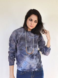 Hand Dyed Sweatshirt - I would love to make some of these