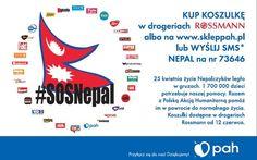Polska Akcja Humanitarna :: #SOSNepal. Kup charytatywną koszulkę lub wyślij SMS