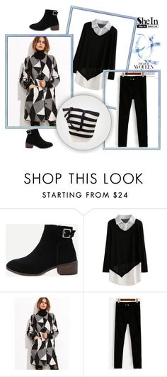 """SheIn 5/IV"" by hedija-okanovic ❤ liked on Polyvore featuring Black and shein"