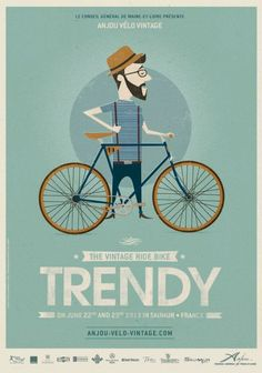 Previous pinner: We're so looking forward to the Anjou Vintage Velo extravaganza in June - already planning our outfits! Will Mr Songbird emulate this 'trendy' look...