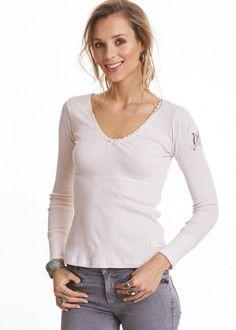 1e4f6da98b5 Odd Molly T-shirt 118M-214 Rib Jersey l/s Top - soft