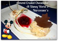 Best Dessert At Disney | Almond Crusted Cheesecake - #disney #disneyworld #disneyfood