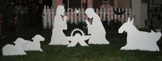 Another common yet effective and economical outdoor decor is painted cut-outs made of wood. You can create cut-outs of reindeers, carolers, or even the nativity scene.
