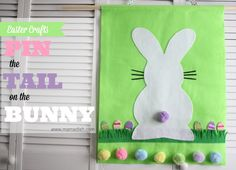 {Easter Projects} Pin the Tail on the Bunny - Mama Dish
