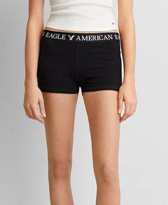 AEO Soft Shorts, Women's, True Black