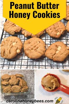 Delicious Peanut Butter Honey Cookies sure to please any peanut butter lover. Honey is a perfect ingredient for creating moist baked goods. Cooking With Honey, Honey Cookies, Cranberry Cookies, Reeses Peanut Butter, Baked Chips, Honey Recipes, Quick Snacks, Eating Raw, Vanilla Flavoring