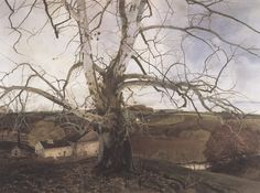 Andrew Wyeth, Pennsylvania Landscape, egg tempera on board, 1942, 35x47 inches Gurney Journey: Golden Age Illustration