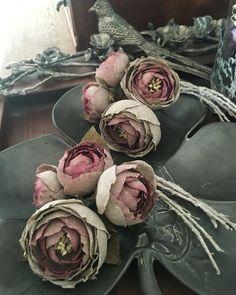 fabric flowers- linen rose
