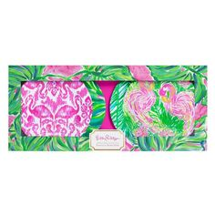 Lilly Pulitzer Painted Palms Appetizer Plate Set