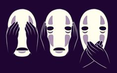 1280x800 Spirited Away's No Face Wallpapers from TeePublic / Click on image for source