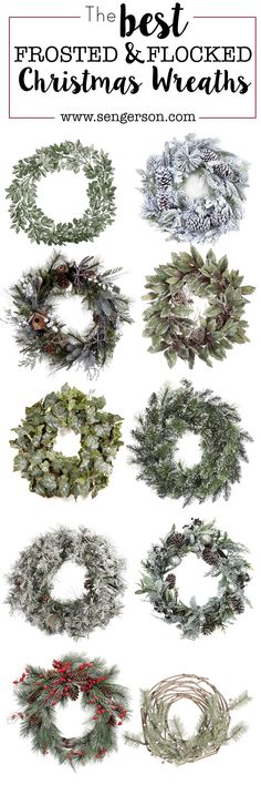 Gorgeous winter wreaths for the holidays!