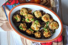 Mushrooms Stuffed with Ricotta & Basil | Sweet Caroline's Corner