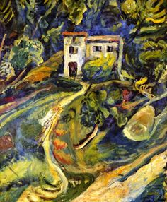 House in the Woods Chaim Soutine - circa 1918