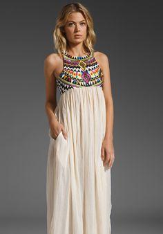 Sass & Bide Embellished Bodice Maxi Dress
