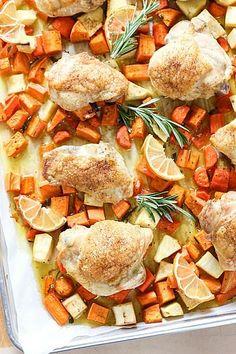 Sheet Pan Roast Chicken Dinner
