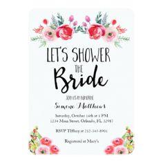 Shower the Bride Floral Bridal Shower Invitation