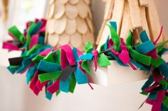 DIY this knotted felt and leather garland for the holidays.