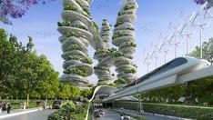 Future City, Cactus Plants, Tomorrow Land, Sci Fi, Fantasy, Houses, Design, Futuristic, Trendy Tree