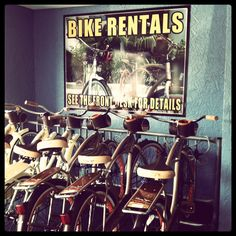 Cute bikes for the beach.