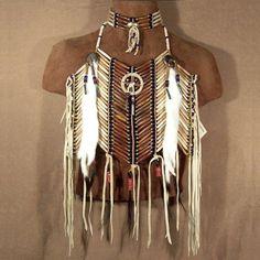 Native American Medicine Wheel Short Breastplate  Matching Choker