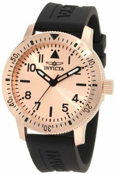 Invicta Men's 11424 Specialty Rose Dial Black Polyurethane Watch Invicta. $89.99. Rose dial with black hands, hour markers and arabic numerals; luminous; unidirectional 18k rose gold ion-plated stainless steel coin edge bezel with black arabic numerals. Black second hand. Flame-fusion crystal; brushed and polished 18k rose gold ion-plated stainless steel case; black polyurethane. Water-resistant to 100 M (330 feet). Swiss quartz movement