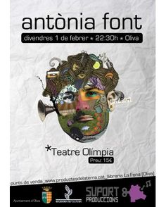 """Entrada concert """"Antònia Font"""" a Oliva (La Safor) el proper 1 de febrer"""