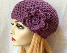 Items similar to SALE Crochet Womens Hat, Mustard Yellow Beanie, Flower, Soft, Birthday Gifts for Her on Etsy Crochet Beret, Hand Crochet, Knitted Hats, Sombreros Cloche, Yellow Beanie, How To Wash Hats, Crochet Woman, Pearl Flower, Birthday Gifts For Her