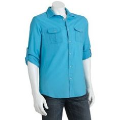 Marc Anthony Slim-Fit Roll-Tab Linen-Blend Casual Button-Down Shirt - Men - product - Product Review