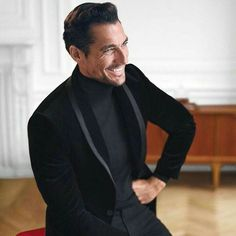 David Gandy. I love pictures of David laughing. He seems happy and more relatable