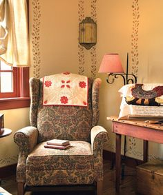 Get helpful tips for bringing the delicate, colorful style of Early-American stenciling to your home