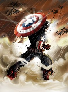 Captain America Color by Riccardo-Fasoli.deviantart.com on @DeviantArt
