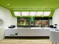 Modern Green Fast Food Restaurant Design Ideas Wienerwald Restaurant Front View Kitchen by Pinky and the Brain