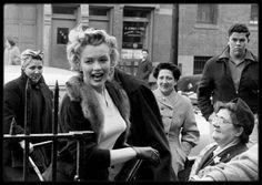 """4 Décembre 1956 / (Part III) Lors de la sortie américaine du film """"Baby Doll"""", Marilyn se rend à """"l'Actors Studio"""" de New York pour promouvoir le film. """"Baby Doll"""" est une adaptation cinématographique de la pièce de théâtre portant le même nom. La version cinéma a été réalisé par Elia KAZAN, le co-fondateur de """"l'Actors Studio"""", et met scène notamment l'acteur Eli WALLACH (avec qui Marilyn jouera dans le film """"The misfits""""), qui fréquenta les cours de théâtre. Marilyn aurait aimé jouer dans…"""