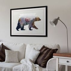 living room art decor open kitchen decorating ideas 373 best images in 2019 big canvas double exposure of a bear wildlife by circle