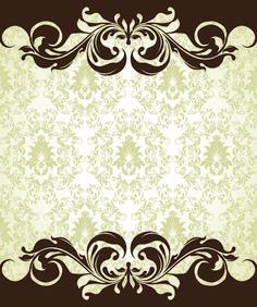 Vintage Flower Background | Ornate Vintage Floral vector Backgrounds art 06 - Vector Background ...