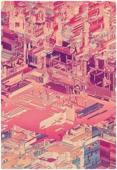 PIXEL CITY by atelier olschinsky , via Behance