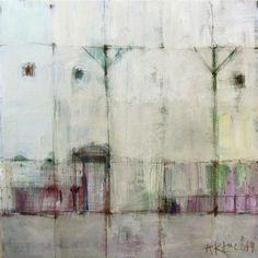 White houses I / Acrylic Painting/ Original Painting/ 40 cm x 40 cm White Houses, Art Boards, Hydrangea, Lilac, Original Paintings, The Originals, Canvas, Gallery, Artwork